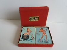 VINTAGE DOUBLE DECK PLAYING CARDS CENTAUR - PIN-UP GIRL / ONE SEALED