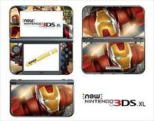 HAUT STICKER AUFKLEBER - NINTENDO NEU 3DS XL - REF 181 IRON MAN