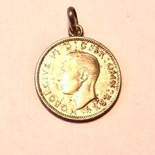 Médaille En Argent Massif Roi Georges VI Angleterre  Monnaie One Schilling 1938