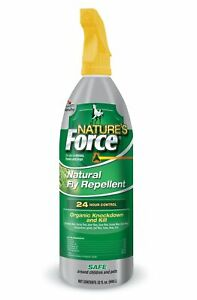 Nature's Force Fly Spray Natural Equine Horse Fly Spray Essential Oils 32 oz