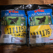 Yellow Y-Tex medium 2pc ear tags number front #151-200 for Cattle