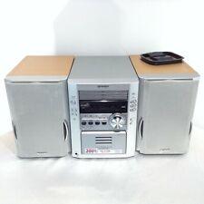 SHARP XL-HP700 3CD AM /FM Cassette Stereo Mini Component System Wood Grain 3pc