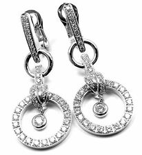 New! Authentic PIAGET 18k White Gold 1.68ct Diamond Drop Earrings Retail $15,500