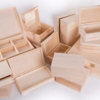 SELECTION of 50 Small+ Wooden Storage Boxes Jewellery Keepsake Decoupage Craft