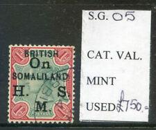 British Somaliland Overprint on 1903 1r Indian Q. Victoria used (2020/05/14#05)