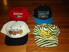 LOT 4 VTG SNAP BACK HATS BUD BEER ZUBAZ MARLBORO RACING INDY MN GOPHERS TWINS