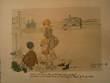Gravure 19° couleur L. Marchetti Chanson d'autrefois Ménéstrel année 1892