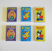 6 NEW DECKS OF KIDS CARD GAMES OLD MAID GO FISH AND HEARTS  PARTY FAVORS