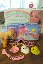 MLP G1, My Little Pony Pretty Parlor, Box & accessories only, Peachy included