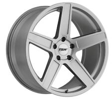 17x8 TSW Ascent 5x120 Rims +35 Titanium Silver Rims Fits Bmw E46 2001-2005