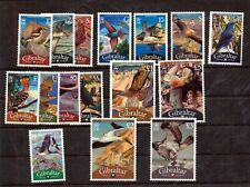 Gibraltar Wildlife Birds To 5 Pounds MNH (16 Stamps) NT 5562s