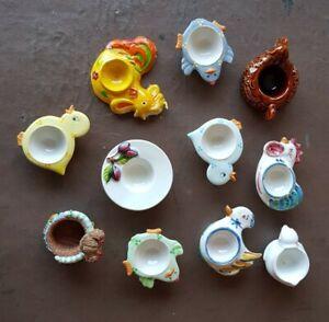 EGGCUP Joblot Bundle Vintage Egg Cups Collection.
