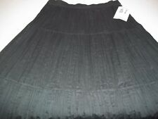 Ozark Mountain Jean Company NEW black Pull-on Crinkle Style Skirt, Size M