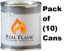 Real Flame 2112 13 oz Premium Gel Sootless Fireplace Fuel - Pack of 10