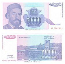 JUGOSLAVIA 50000 Dinara 1993 P-130 BANCONOTE UNC