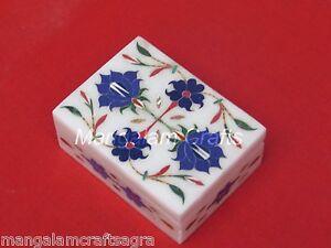 Marble Jewelry Box  Pietra Dura Stone Handmade Home Decor