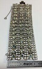 Vintage Weiss Eltra Wide Rhinestone Bracelet 1950'S (J181)
