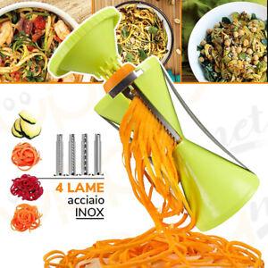 Maxi affetta verdure a spirale tempera taglia spaghetti julienne cucina 4 lame