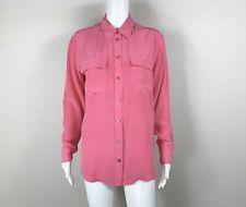 EQUIPMENT Femme Signature Shirt Blouse Pink 100% Silk Size Small - NTSF
