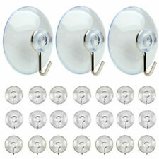 24x Suction Cup Hooks Hanger Window Glass Bathroom Hanging Christmas Decorations
