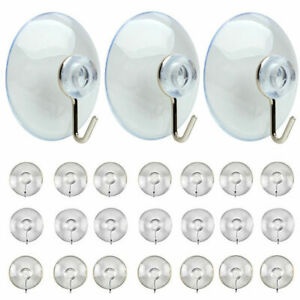 12 Large Suction Cup Hooks Hanger Window Glass Hanging Christmas Decorations