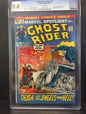 💎MARVEL SPOTLIGHT #6 CGC 9.4 WHITE PAGES 2nd APP & ORIGIN RETOLD GHOST RIDER