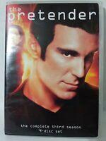 The Pretender Season 3 (DVD, 2009 4-Disc Set) Michael T. Weiss Dual-Sided Discs