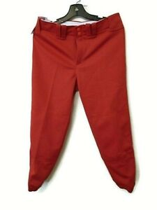 NWT Mizuno women's softball pants size M Red