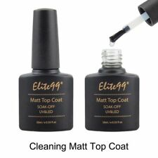 Elite99 Matte Top Coat Soak Off UV LED Gel Polish Nail Art Matting Sealer 10ml