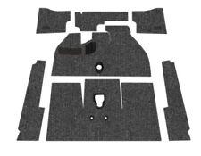 Premium VW Front Carpet Kit, Black Loop, w/ Footrest, Beetle 1965-1967