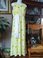 Victorian EMMA regency costume dress size 6 Day Garden gown Yellow Jane Austen