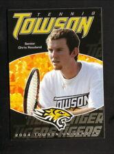 Towson Tigers--2004 Tennis Pocket Schedule--Geico