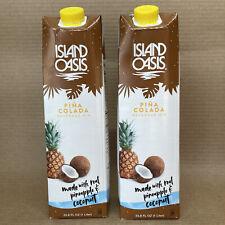 Island Oasis Pina Colada Beverage Drink Mix 33.8 oz. (2 Pack)