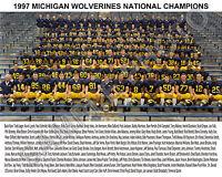 1997 MICHIGAN WOLVERINES NATIONAL CHAMPIONS 8X10 TEAM PHOTO FEELY BRADY WOODSON