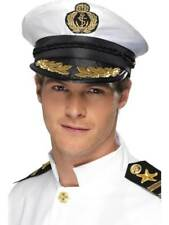 Smiffy's Captain Hat - White With Golden Detail