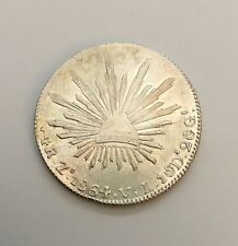 MEXICO  ZACATECAS MINT  1864-ZsVL  4 REALES SILVER COIN JUST ABOUT UNCIRCULATED