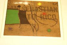 1960 Vintage Original Lithograph Print Joan Miro Femme Et Oiseau IV/X