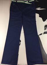 Polo Ralph Lauren Essentials Khakis Polo Chino Navy Pants Ribbon Belt Girls 10