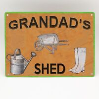 PERSONALISED SHED METAL SIGN Shed Outhouse Door Wall Garden Plaque Custom Gift