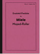 Miele K 50 S Moped-Roller Ersatzteilliste Ersatzteilkatalog Teilekatalog K50S