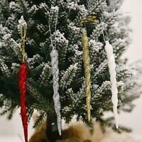 Weihnachten transparente Eiszapfen Anhänger Weihnachtsbaum Dekoration V2I8