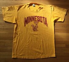 MINNESOTA GOLDEN GOPHERS Vintage 1985 t-shirt Short Sleeve Men's XL 50/50
