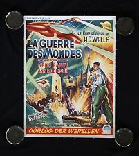 WAR OF THE WORLDS BELGIAN BELGIUM ORIGINAL MOVIE POSTER 1953 SCIENCE FICTION