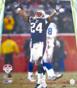 Ty Law autographed signed Patriots 2003 AFC Championship Game 16x20 photo poster
