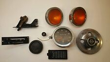 9 Parts Opel GT Speedometer 2 Def Panels Fuse Cover Rim 2 Lights Rear View Miror