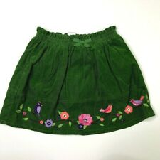 Gymboree Girls Green Embroidered Birds Skirt/Skort 6 Falling For Feathers