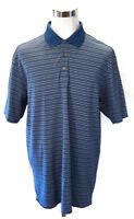 NIKE Golf Dri Fit UV  Blue Swoosh Logo (on Sleeve) Polo Shirt Mens Size XL
