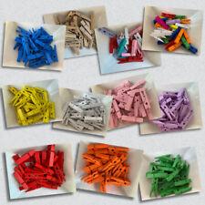 25 Stück Mini Clip Wäscheklammern 3,5 cm Klammer Bastelklammern Foto Klammern
