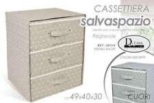 CASSETTIERA 3 CASSETTI ARMADIO 49*40*30 SALVASPAZIO BIANCHERIA CUORI BET 683114