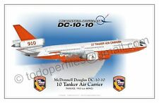 DC-10-10 -10 Tanker Air Carrier 910 - Aircraft Poster Profile